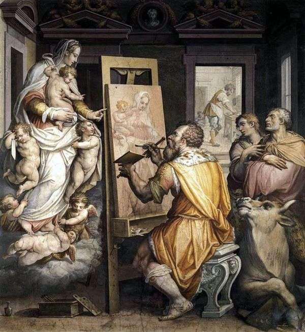 圣路加描绘了处女   乔治瓦萨里的肖像