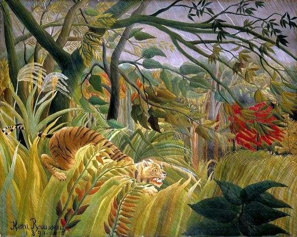 丛林中的风暴   亨利卢梭