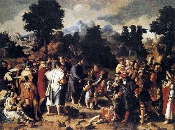 耶利哥失明的治疗(三联画)   Lukas van Leiden