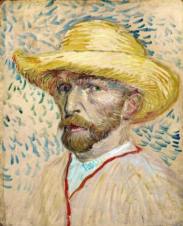 草帽II中的自画像   文森特梵高