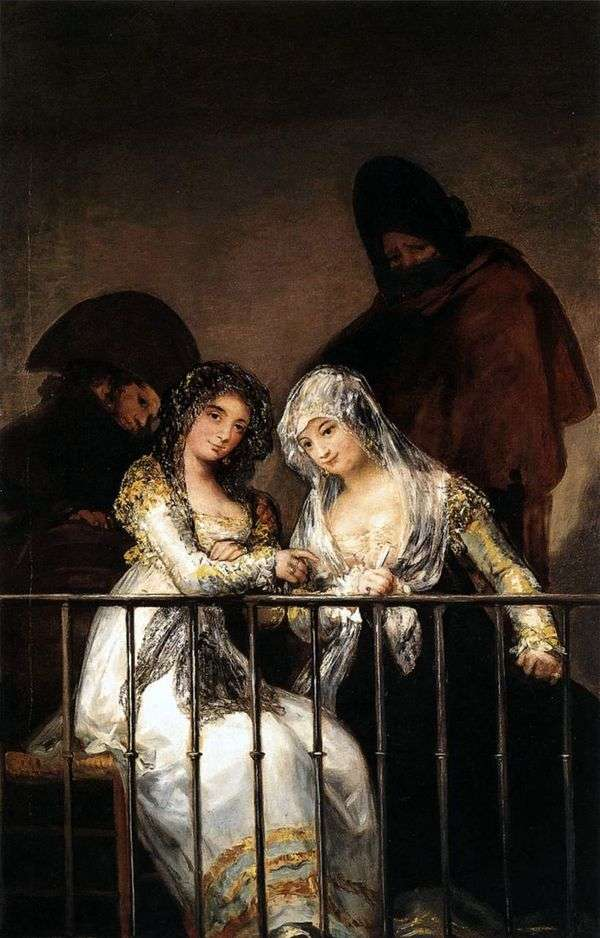 Mahi在阳台上   Francisco de Goya