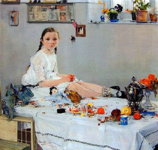 Vary Adoratskaya   Nikolay Feshin的肖像