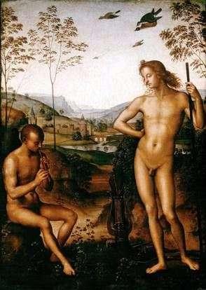 Apollo和Marsyas   Pietro Perugino