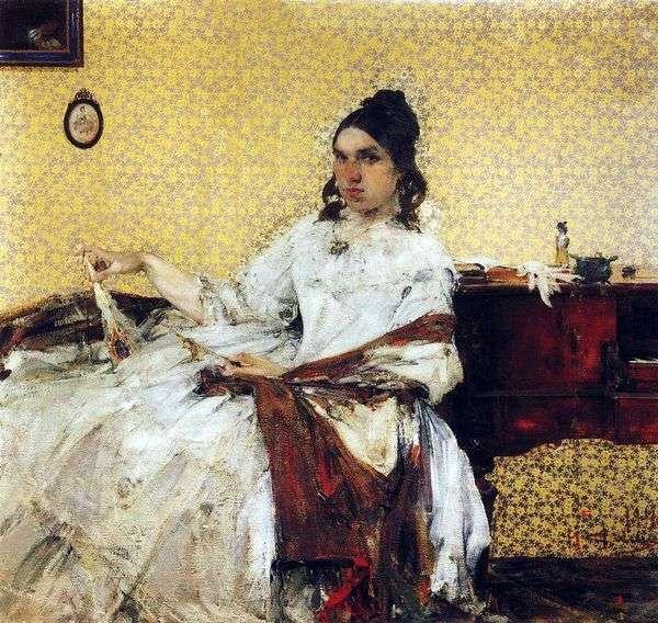 N. M. Sapozhnikova的肖像   Nikolay Feshin