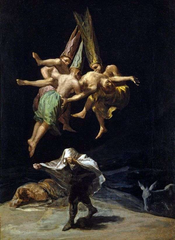 飞行的女巫   弗朗西斯科德戈雅