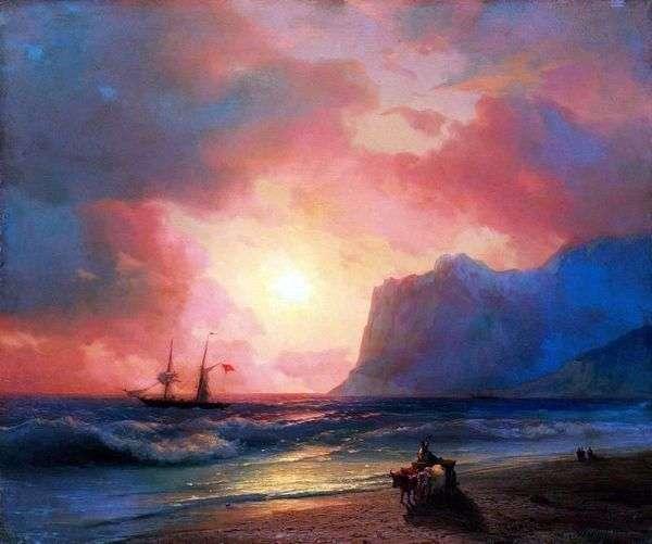 在海的日落   伊万Aivazovsky