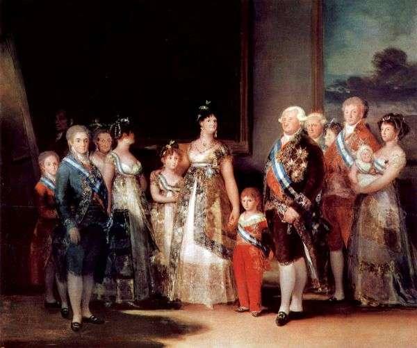查理四世家族的肖像   弗朗西斯科德戈雅