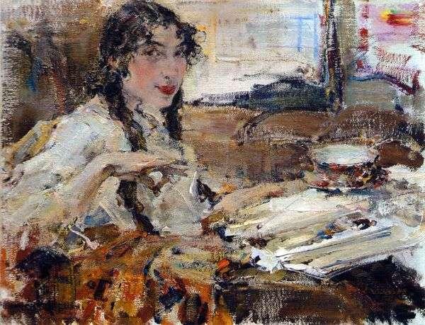 T. A. Popova的肖像   Nikolay Feshin