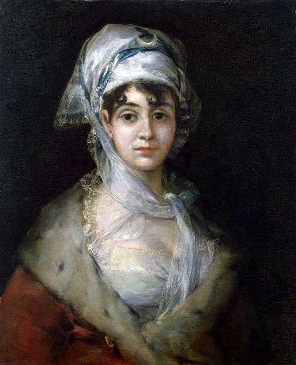 女演员Antonia Zarate的画象   Francisco de Goya