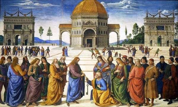 将钥匙交给使徒彼得   彼得罗佩鲁吉诺