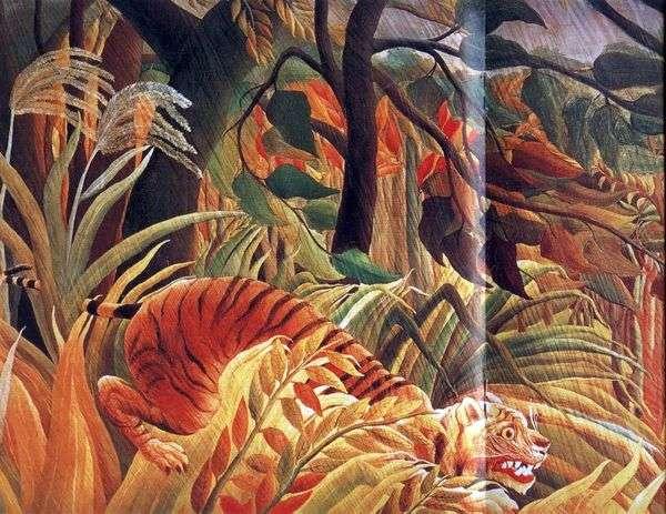 丛林中的袭击   亨利卢梭