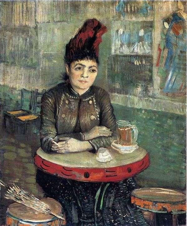 Tambourine Cafe的Agostina Segatori   Vincent Van Gogh