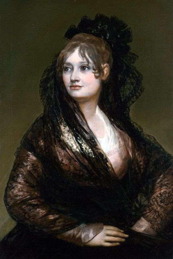 Donna Isabel de Porsel   Francisco de Goya画象