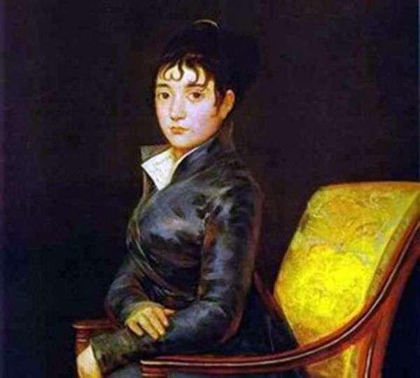 Dona Teresa Louise de Surred画像   Francisco de Goya