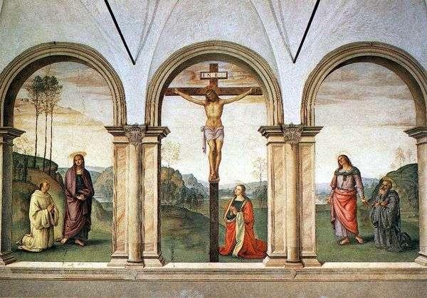 Fresco triptych Crucifixion   Pietro di Cristoforo Vanucci Perugino