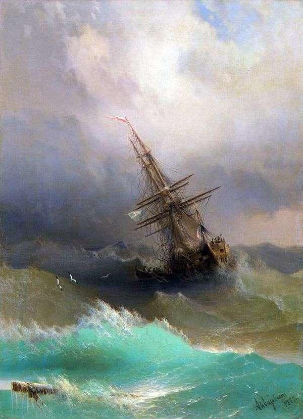 船在风雨如磐的海中   伊万艾瓦佐夫斯基