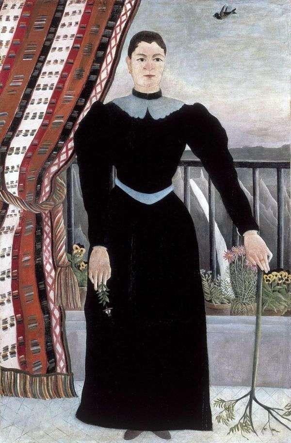 一个女人的肖像   亨利卢梭