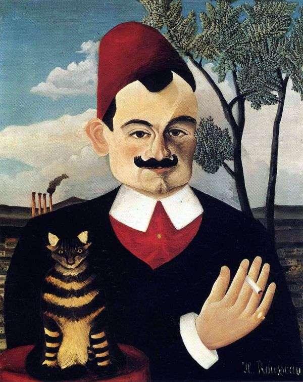 Pierre Loti的肖像   Henri Rousseau