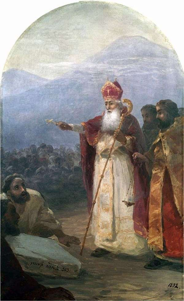 亚美尼亚人民的洗礼。Gregory the Illuminator   Ivan Aivazovsky