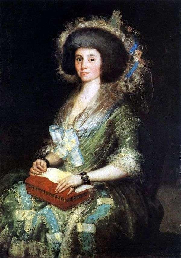 SeñoradeSean Bermudez   Francisco de Goya的肖像