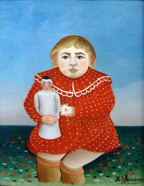 有玩偶的孩子   亨利卢梭