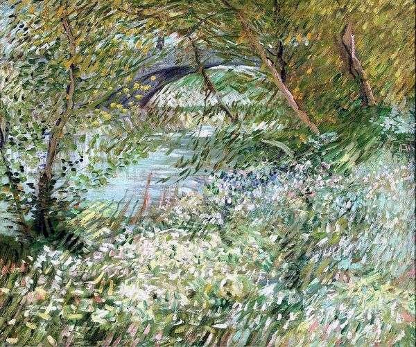 春天的Pont de Clichy塞纳河畔   文森特梵高