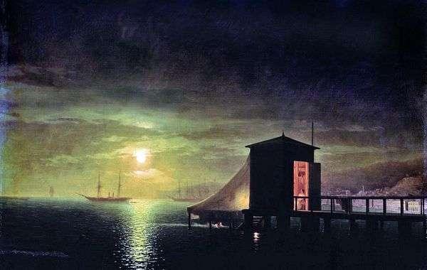 月亮之夜 Feodosia的浴室   Ivan Aivazovsky