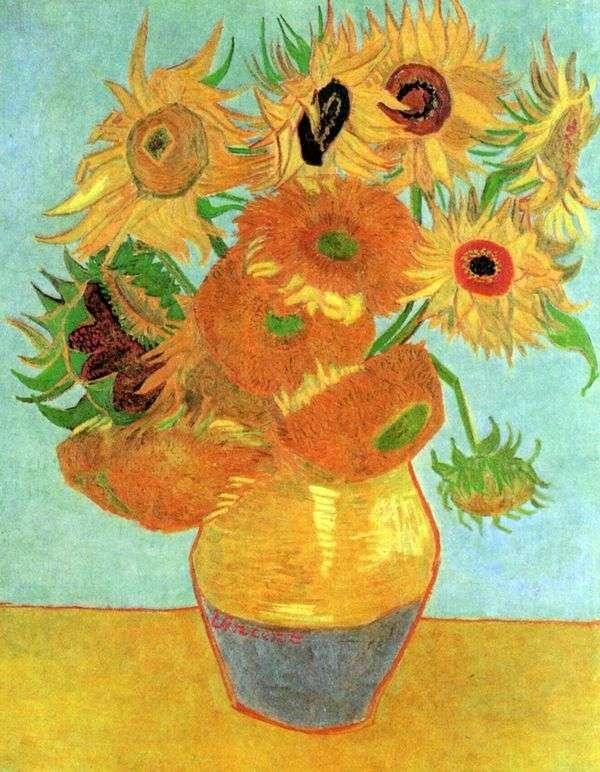 花瓶有十二个向日葵   文森特梵高