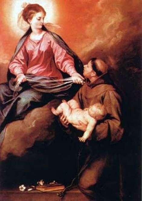 Sv。的愿景。安东尼奥上帝与孩子的母亲   阿隆索卡诺