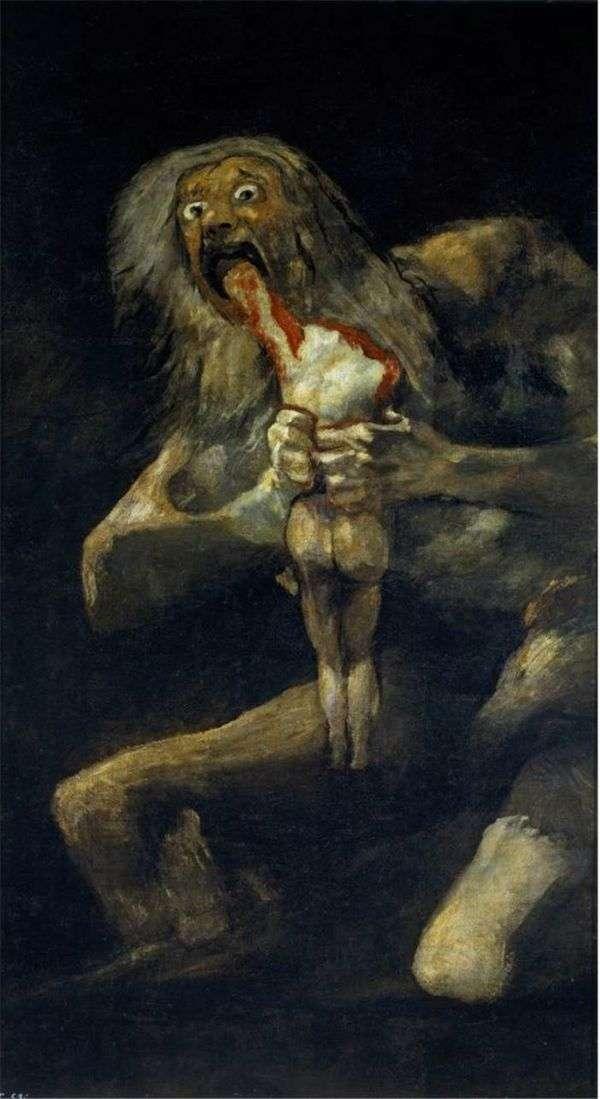 土星吞噬他的儿子   Francisco de Goya