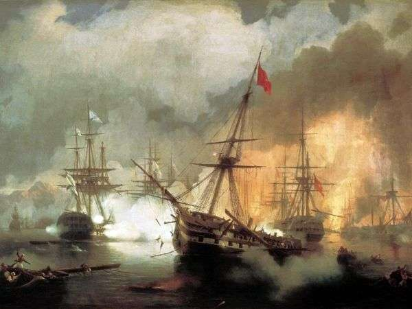 Navarre Fight   Ivan Aivazovsky