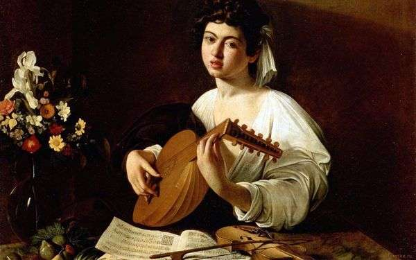 有琵琶的女孩   米开朗基罗Merisi da Caravaggio