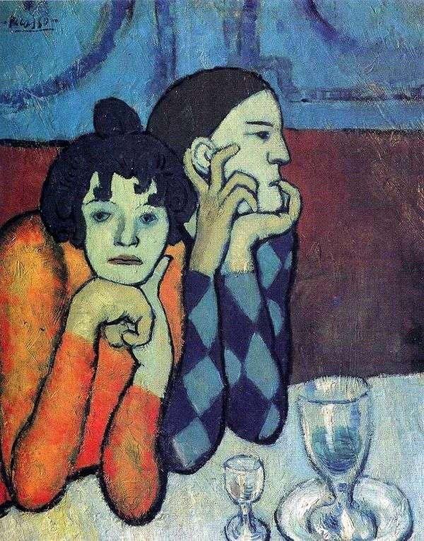 Harlequin和他的女朋友   Pablo Picasso