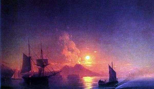 那不勒斯湾在月光下的夜晚   伊万艾瓦佐夫斯基