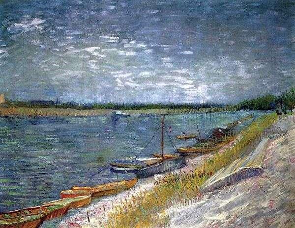 河的看法有划艇的   文森特凡高