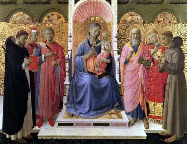 麦当娜和圣徒的孩子   Angelico Fra