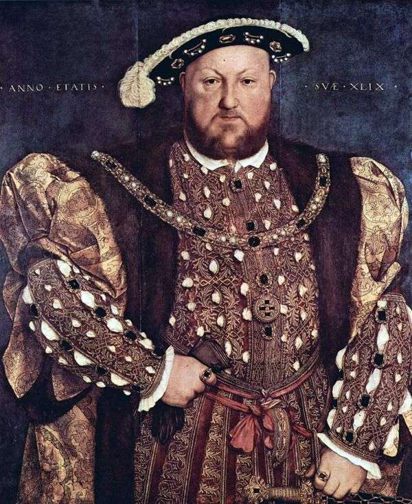 亨利八世国王的肖像   汉斯霍尔宾