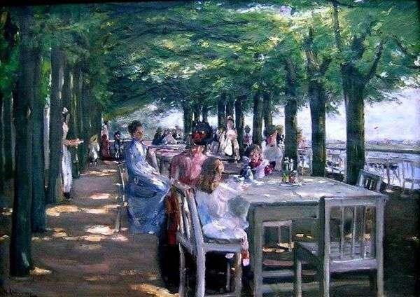 位于易北河Ninstedten的雅各布餐厅的露台   Max Lieberman