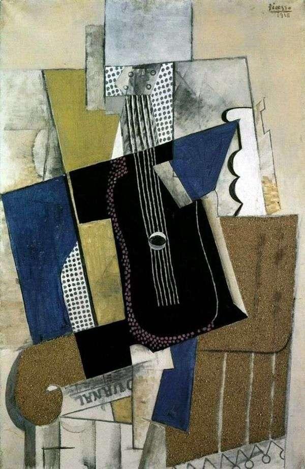 吉他和报纸   Pablo Picasso