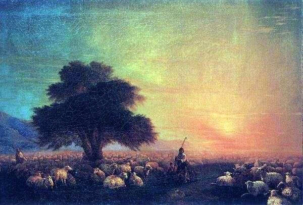 一群羊   伊万艾瓦佐夫斯基