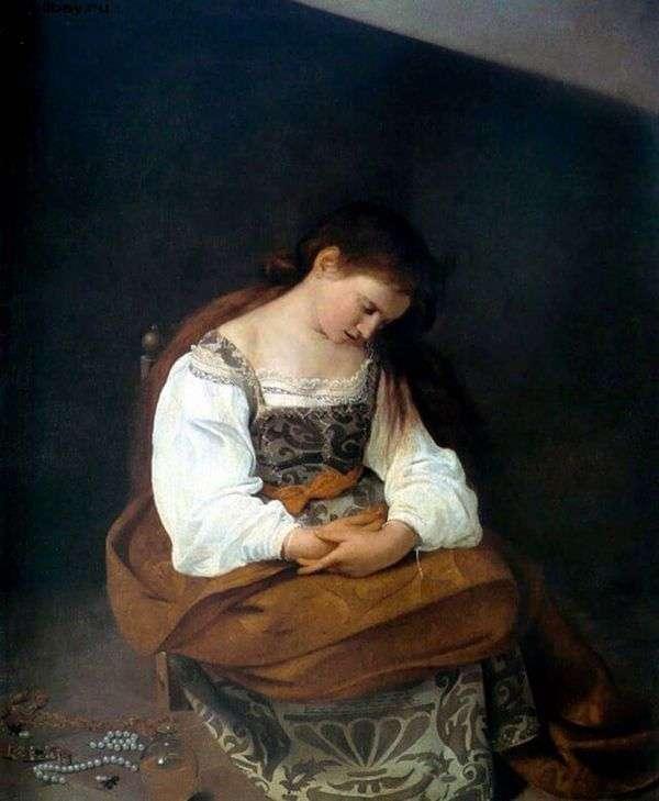 玛丽抹大拉   米开朗基罗梅里西达卡拉瓦乔