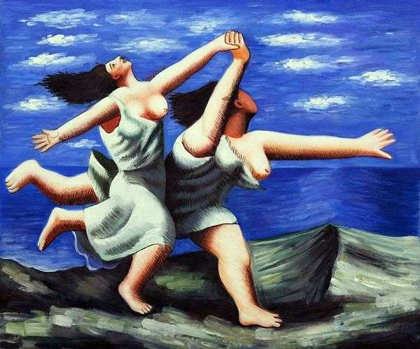 跑沿海滩的两名妇女   Pablo毕加索