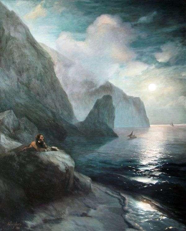 普希金在Gurzuf岩石的克里米亚   伊万Aivazovsky