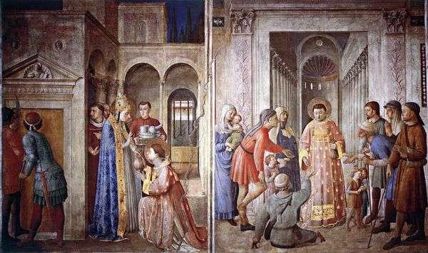 圣劳伦斯,他带走了教堂的宝藏并将它们分发给了穷人  Angelico Fra