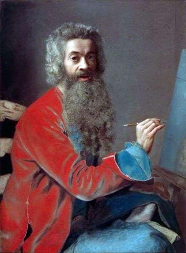 留着胡子的自画像   Jean Etienne Liotard