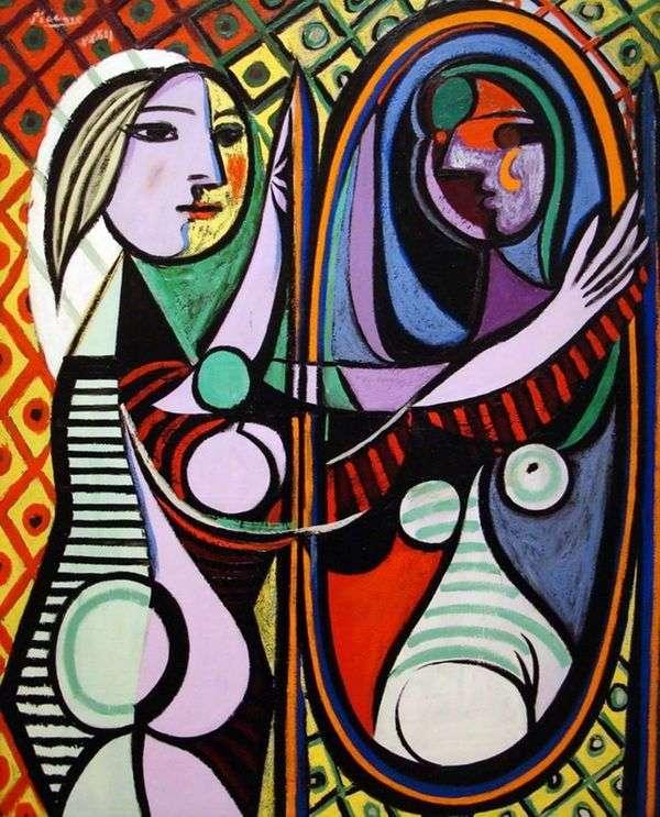 镜子前面的女孩   Pablo Picasso