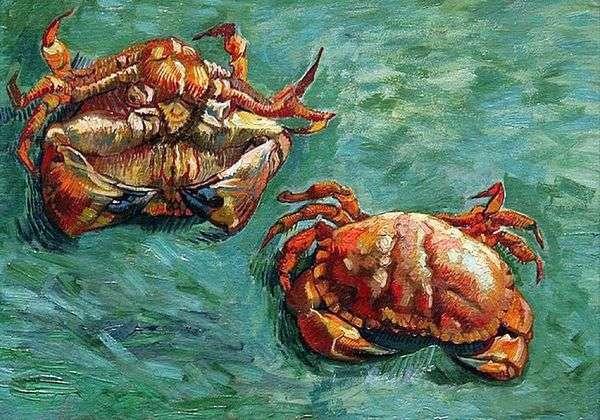 两只螃蟹   文森特梵高