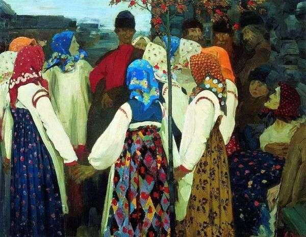在舞蹈中揉搓那个人,好吧,老太太呻吟。   Andrey Ryabushkin