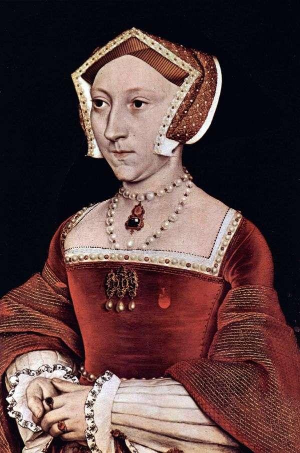 英国女王简西摩的肖像   汉斯霍尔拜因