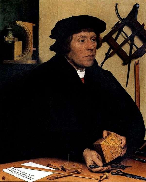 天文学家Nikolus Kratzer的画像   Hans Holbein